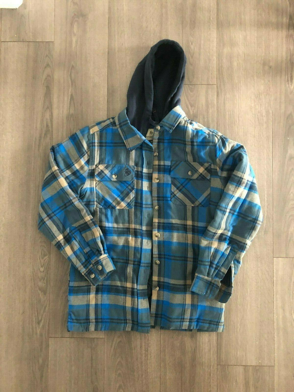 maplewood hooded flannel shirt jacket