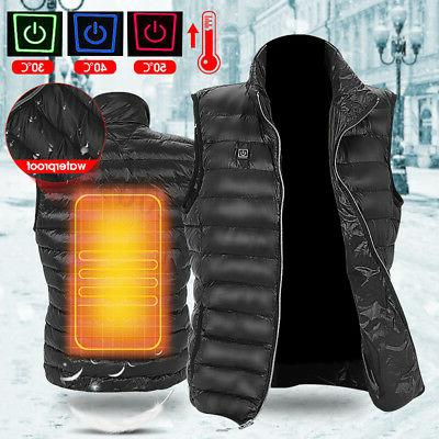 men electric usb heated vest warm heating