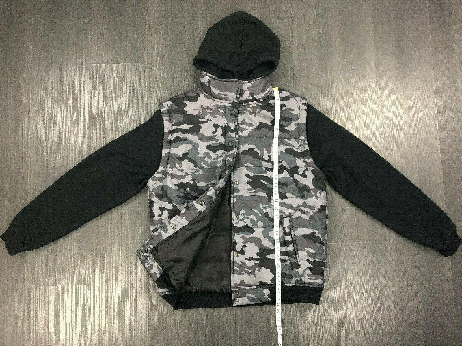 LE3NO Lightweight Snap Button Hoodie