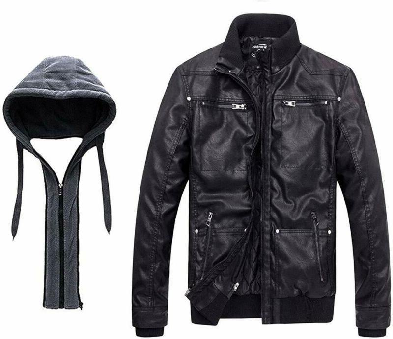 Wantdo Leather Jacket with Removable