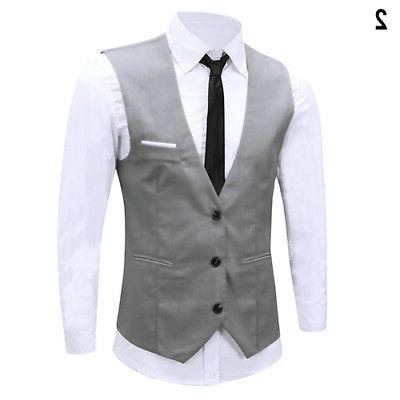 Men's Fit Dress Suit Waistcoat Stock