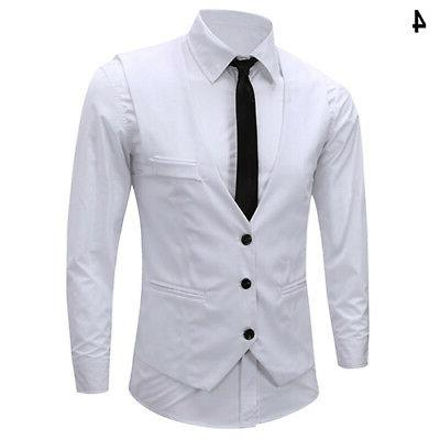 Men's Slim Fit Vest Suit Stock