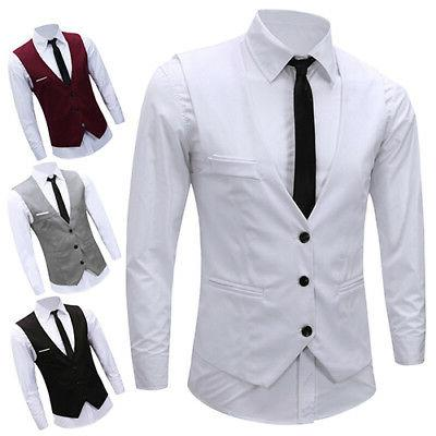 Men's Fit Vest Suit Stock