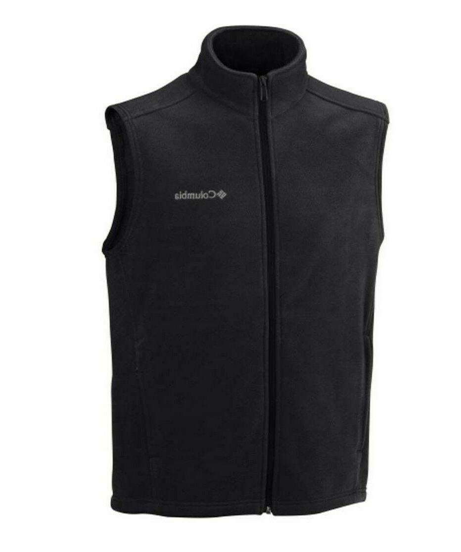 men s granite mountain fleece vest black