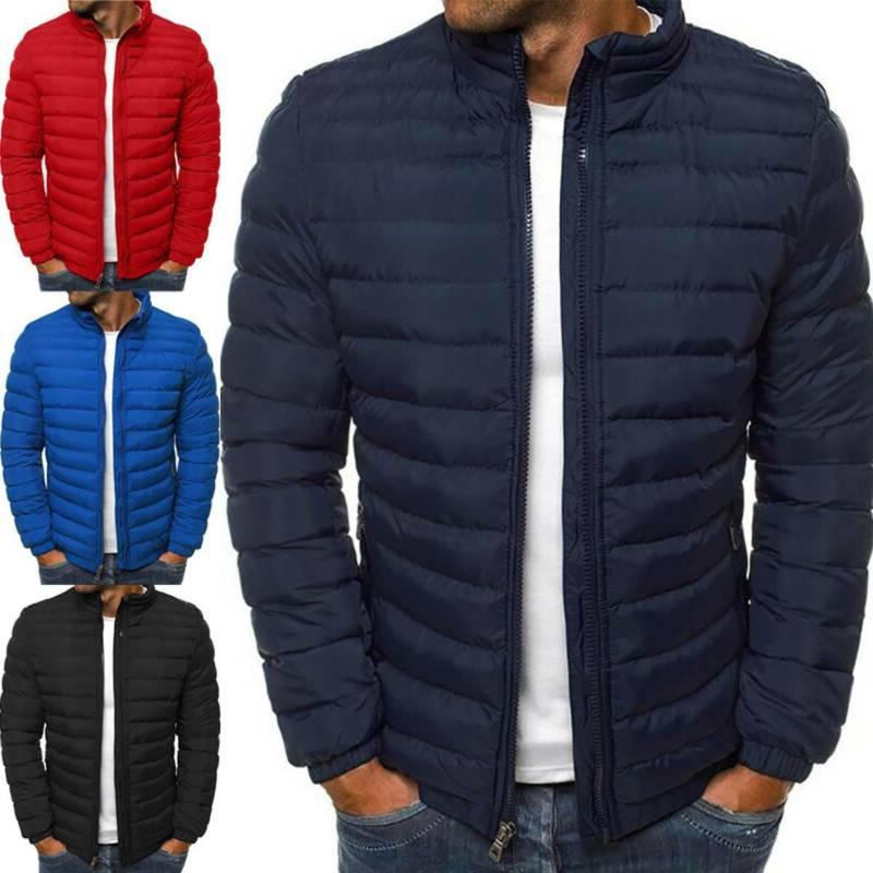 Men's Puffer Bubble Down Coat Jacket Quilted Padded Winter L