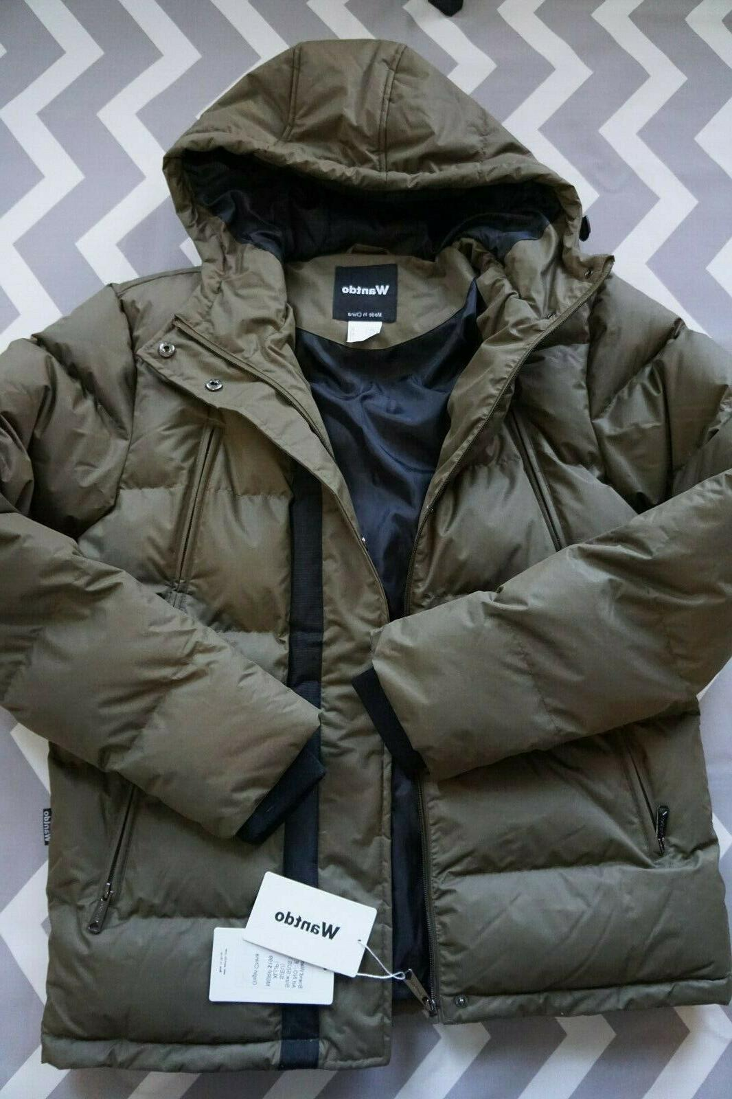 men s puffer winter warm quilted jacket