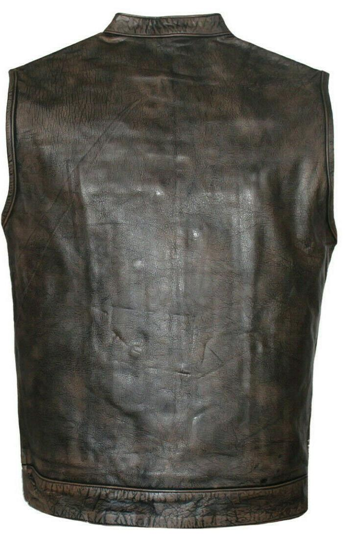 Men's SOA Motorcycle Distressed brown Leather Carry