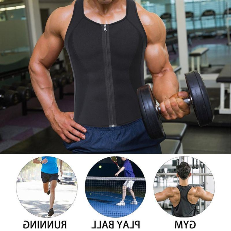 Men's Sweat Vest Shaper Zipper Slimming Sauna Tank Top