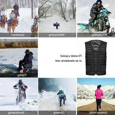 Men's Vest Jacket Electric Battery Heating Winter Coat