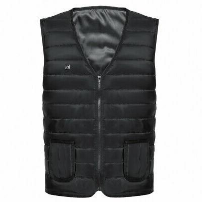 Men's USB Heated Vest Jacket Heating Warmer