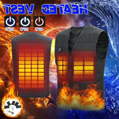 men s women usb heated vest jacket