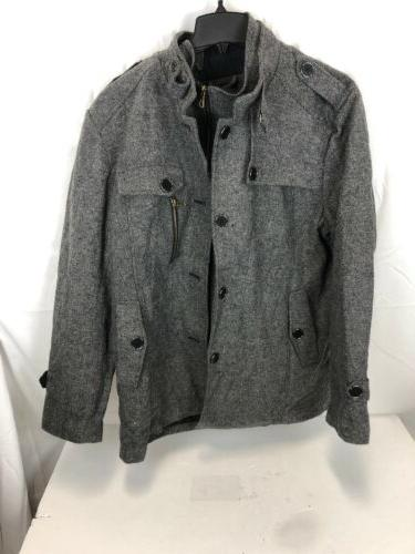 Jacket Collar Pea Coat, XXL