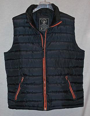 mens black quilted insulated vest sz xl