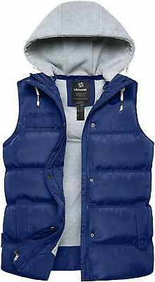 mens jacket navy blue size l puffer