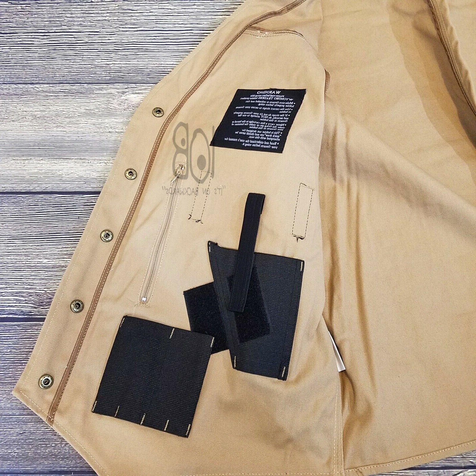Wyoming Traders Mens Texas Concealed Snap Canvas Western Vest