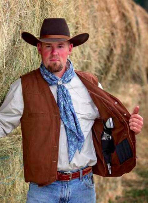 mens texas concealed carry snap up canvas