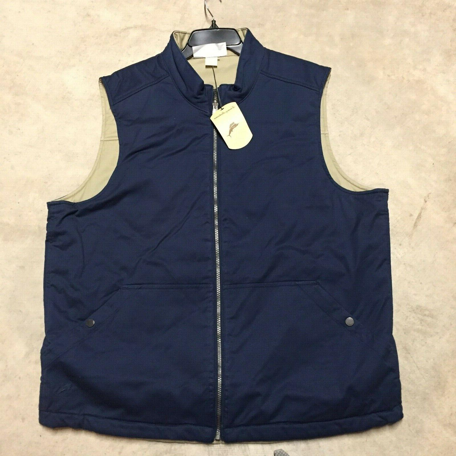 mens top sail reversible quilted vest jacket
