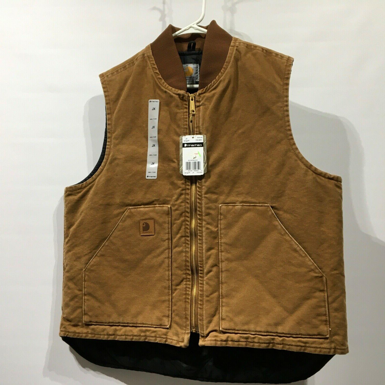 new mens arctic quilt lined duck vest