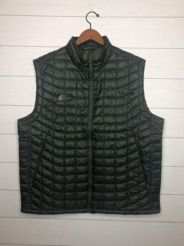 nwot insulated quilted vest olive green thermoball