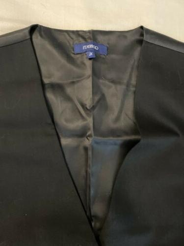 NWT! Button Formal Suit Black, X-Large SHIPPING!