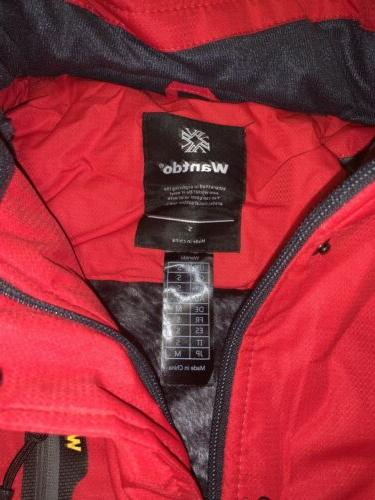 Red Windproof Jacket Lined Jacket