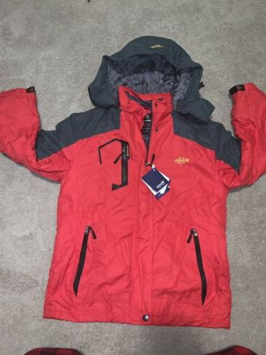 nwt mens sz small red windproof
