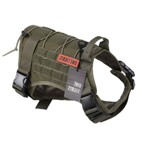 onetigris tactical k9 trainning service dog harness