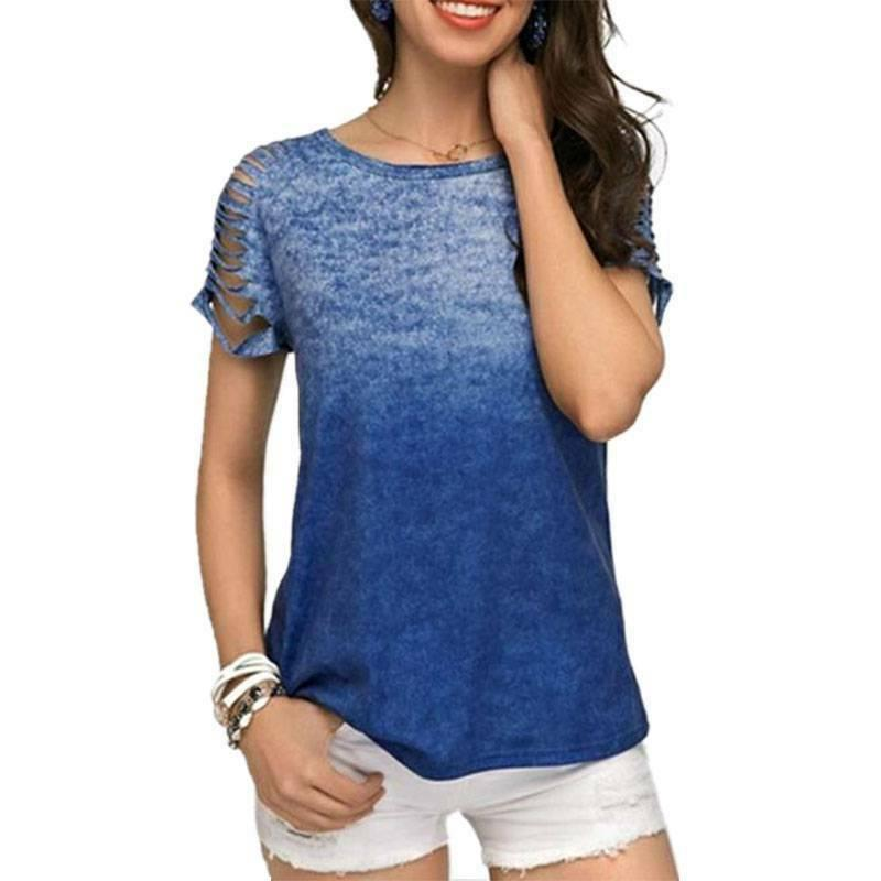 Plus Short Sleeve Tank Tops Baggy Tunic Tee