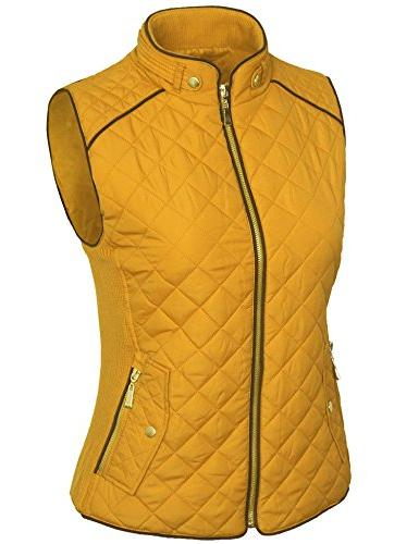 KOGMO Womens Quilted Fully Vest