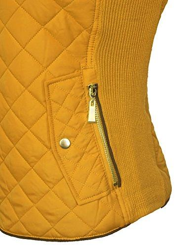 KOGMO Quilted Fully Lined Zip Vest