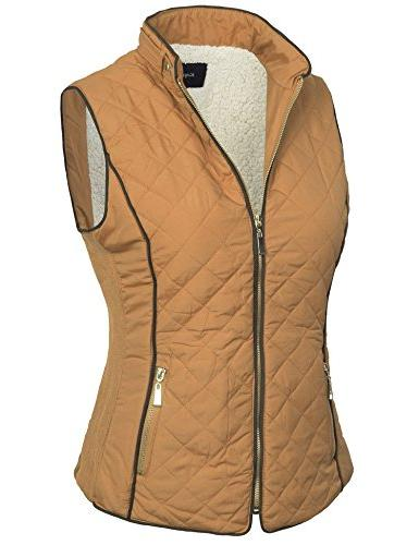 BOHENY Lined Vest with Fur -2X-CAMEL