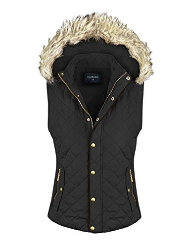 quilted padding jacket vest