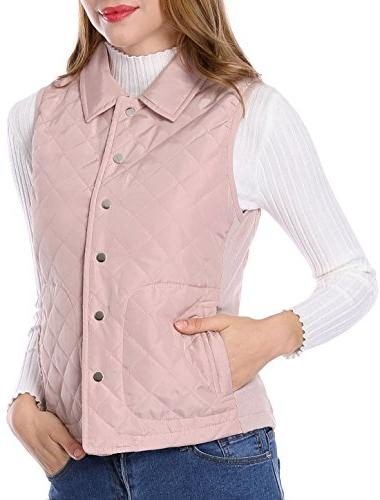 single breasted lightweight gilet quilted