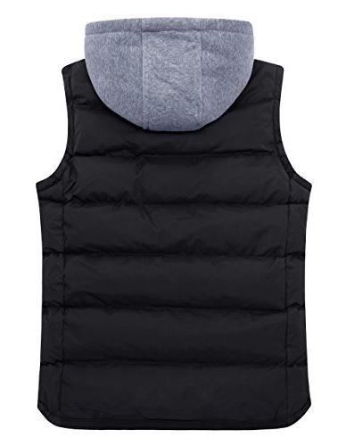 ZSHOW Women's Winter Vest Hooded Jacket 12 Black