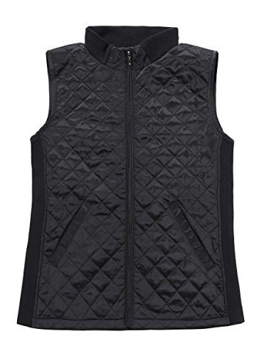 slim casual zip quilted sleeveless