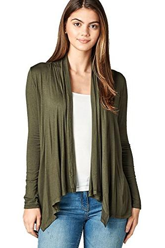 solid long sleeve open drape