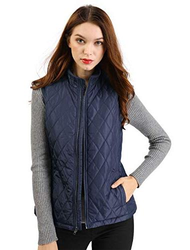 stand collar zip front quilted