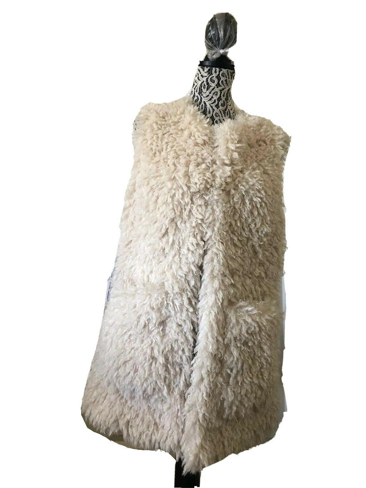 ugg women farrah cream faux fur vest