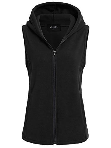 ultra soft fleece sleeveless hoodie