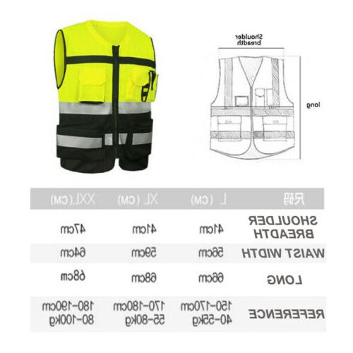 US Safety Reflective Security Waistcoat With
