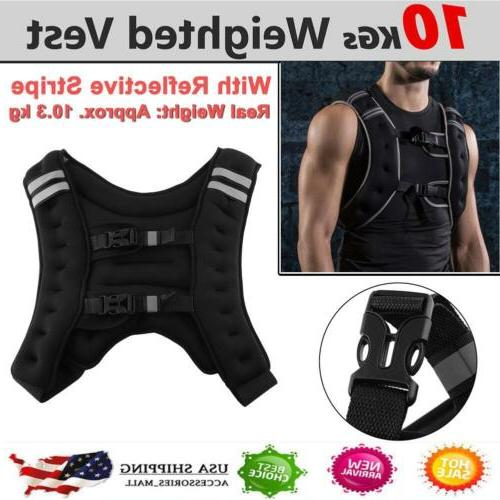 weighted vest 22 lbs strength training running