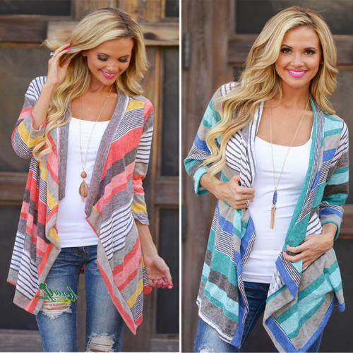 Women Waterfall Sweater Poncho Shawl Coat Jacket