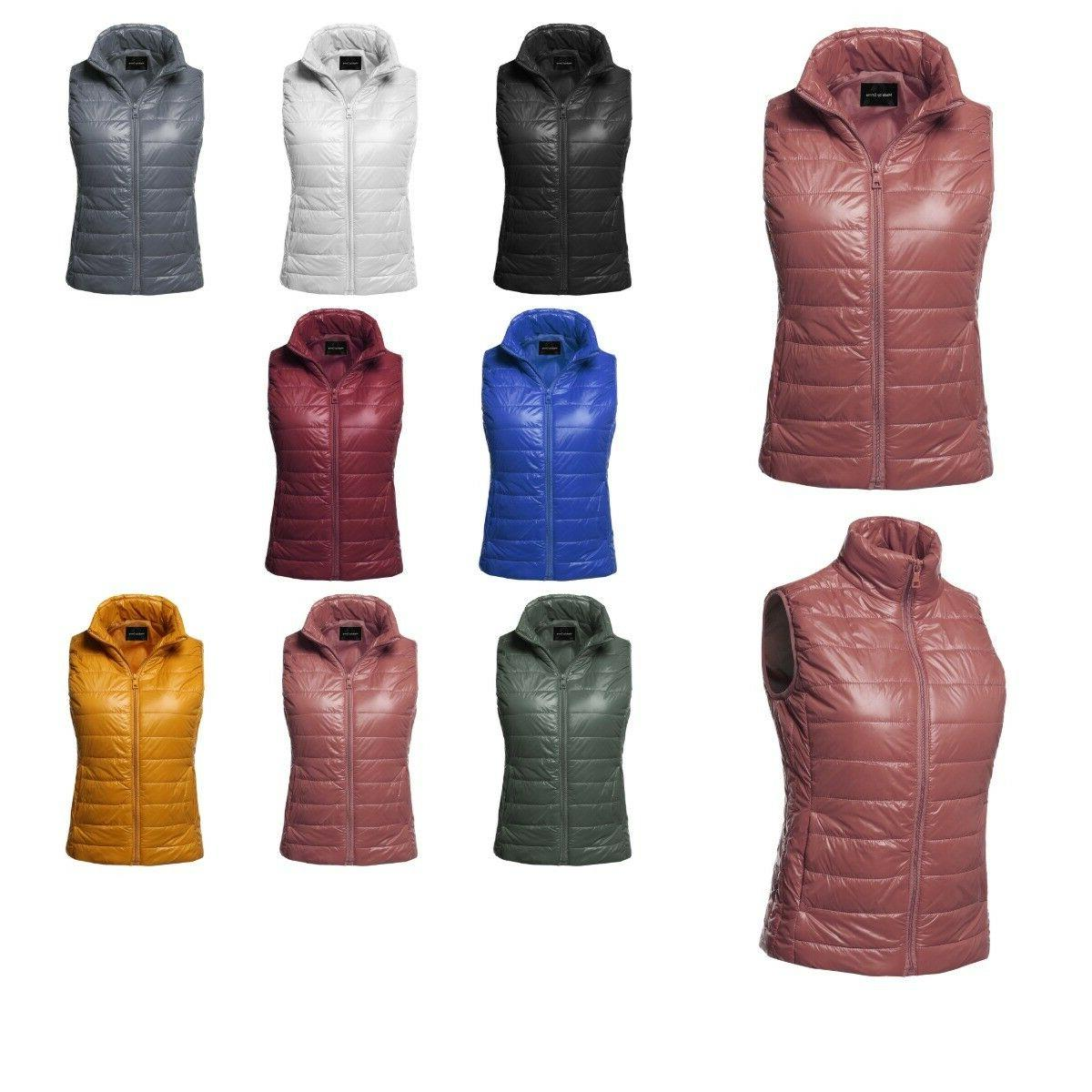 women s casual sleeveless lightweight quilted padding