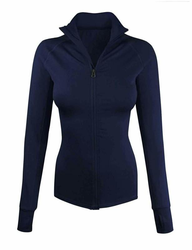 women s comfy zip up stretchy work