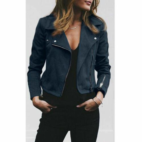 Women's Suede Jacket Up Casual Clothes