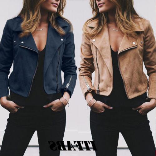 Women's Ladies Suede Leather Up Tops Clothes