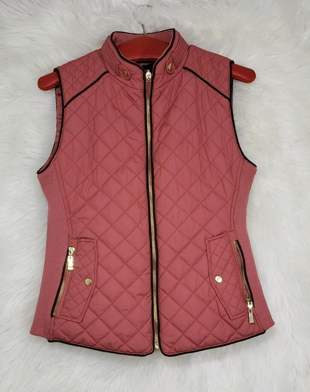 women s quilted detail vest padded full