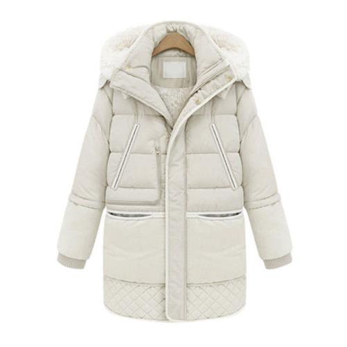 Women's Warm Down Thick Fleece Winter Coat