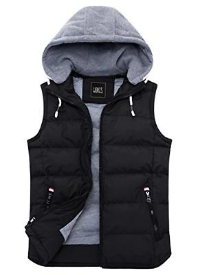 women s winter padded vest removable hooded