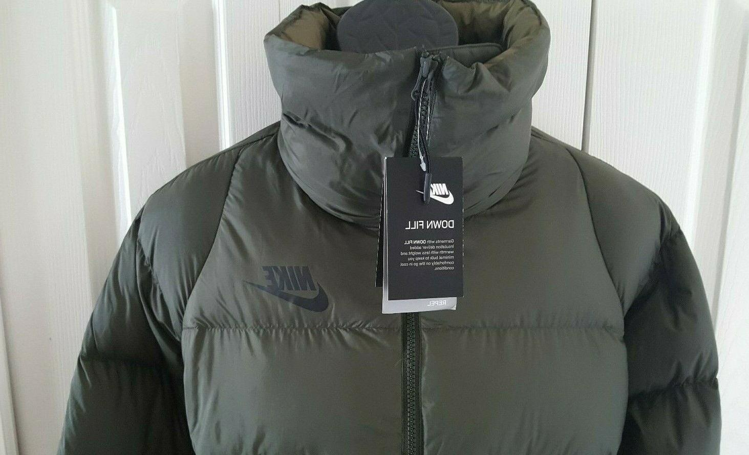 Nike Women Duck Fill Down Grey Jacket Parka